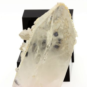 Quartz with Arsenopyrite inclusions.