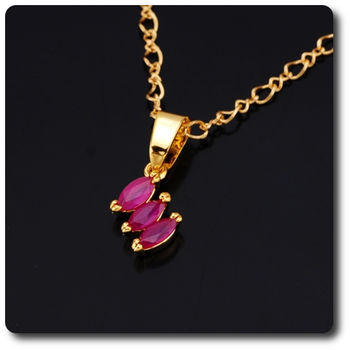 3x5mm Red Ruby Pendant