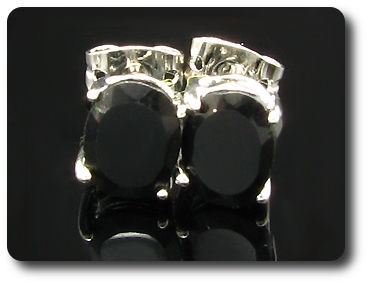 2x9mm Black Sapphire Earrings