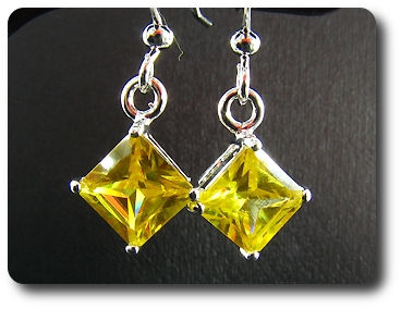 2x5 mm Yellow Topaz Earrings