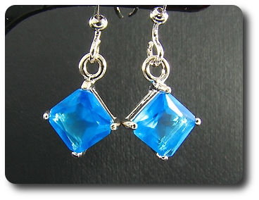 2x5mm Blue Sapphire Earrings