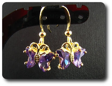4x7mm Purple Amethyst  Earrings