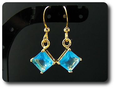 2x6mm Blue Sapphire Earrings