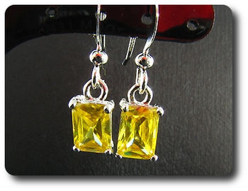 2x6mm Yellow Topaz Earrings