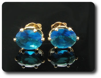 2x8mm Blue Sapphire Earrings