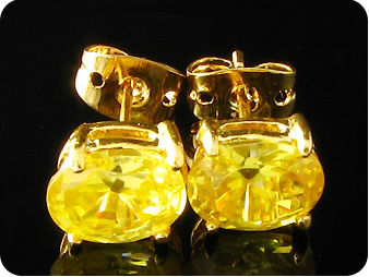 2x8mm Yellow Topaz Earrings