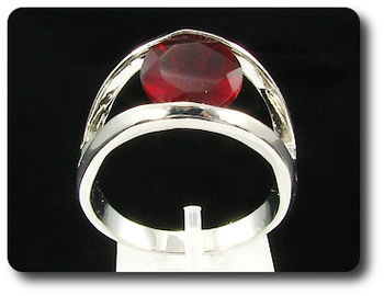 12mm Red Ruby Ring