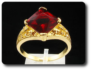 13mm Red Ruby Ring
