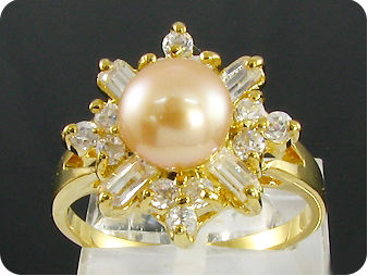 8mm Creamy Pearl Ring