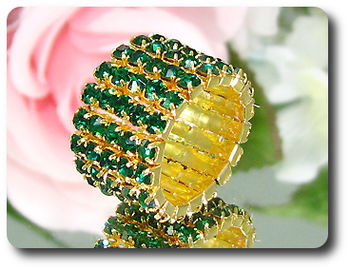 90x3mm Emerald Ring Size Stretchable
