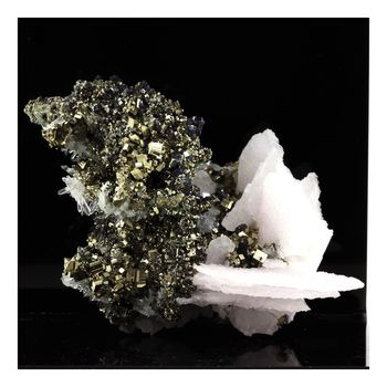 Pyrite, Calcite, Quartz.