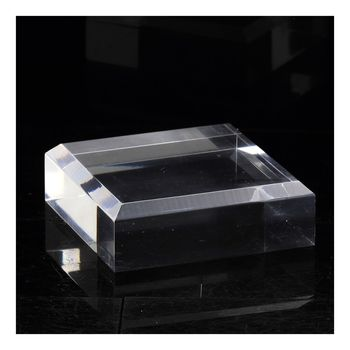 Stand Acrylic Holder beveled angles for Minerals. 2 pcs.