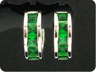 10x4mm Green Emerald Earrings