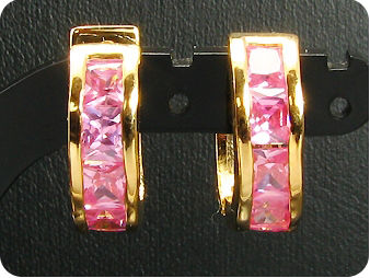 10 x 4mm Pink Sapphires  Earrings
