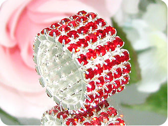 90x3mm Red Ruby Dancing Party Gold Canival Ring
