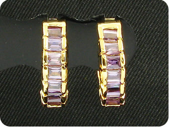 14x3mm Purple Amethysts Earrings