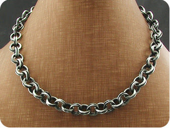 Black Steel Men Necklace