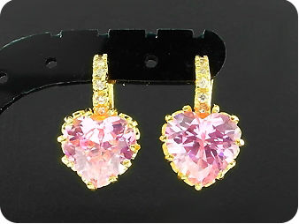 2 x 9mm Pink Sapphires Earrings