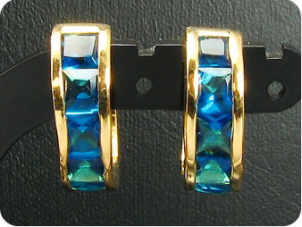 10x4mm Blue Sapphires Earrings