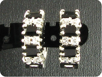 6 x 4mm Black Sapphires Earrings