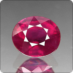2.03ct STUNNING OVAL NATURAL RICH RED RUBY MADAGASCAR