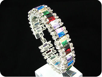 38x8mm Multicolour Topaz Bracelet