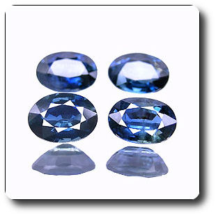 4.12ct 4pcs OVAL 100% NATURAL ROYAL BLUE SAPPHIRE