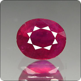 2.35ct GRACEFUL OVAL NATURAL RICH RED RUBY MADAGASCAR