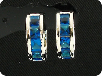 10x4mm Blue Sapphire Earrings