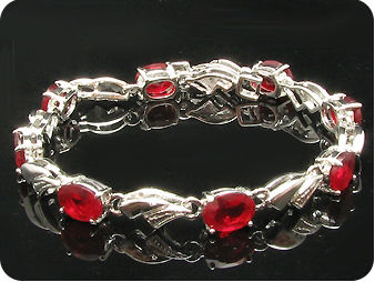 8x8mm Red Rubies Bracelet