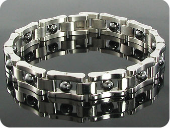 Voguish Sphere Link Pattern Heavy Metal Men Bracelet