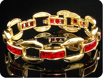24x5mm Red Rubies Bracelet
