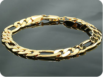 Engraving Link Pattern Men Bracelet