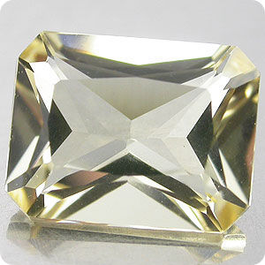 1.89CT. PRETTY! YELLOW  BERYL OCTAGON RADIAN CUT BRAZIL