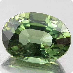 BRILLIANT GREEN 0.88CT. NATURAL SAPPHIRE THAILAND