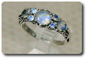Natural  Moonstone Ring Silver 925