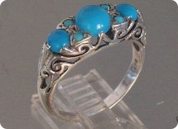 Natural Turquoise Ring Silver 925
