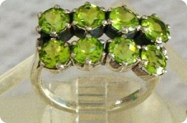 Natural Peridot Ring Silver 925