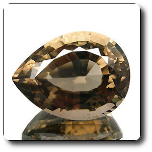 30.80ct GORGEOUS PEAR 100% NATURAL SMOKY QUARTZ