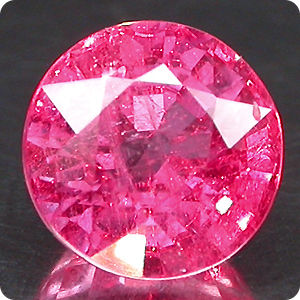 FULL FIRE 1.43CT.MAJESTIC! AAA LUSH PINK RUBY ROUND 6mm Mozambique