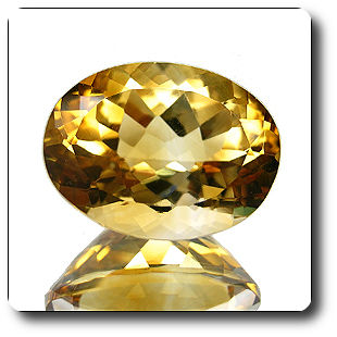 9.50ct GORGEOUS OVAL NATURAL GOLDEN YELLOW CITRINE