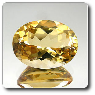 9.29ct ELEGANT OVAL NATURAL GOLDEN YELLOW CITRINE BRAZIL