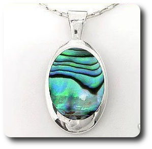 Natural Abalone Sea Shell Stone Pendant