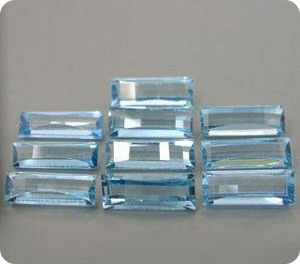 21.05ct 10 pcs  LAB-CREATED BLUE AQUAMARINE RUSSIA