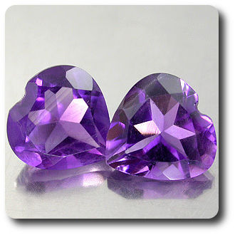3.08 cts LOT DE 2 AMETHYSTE .VS