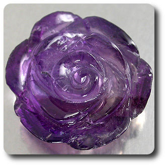 9.38ct  FLOWER HAND CARVING NATURAL  AMETHYST AFRICA