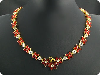 108x5mm Red Ruby Necklace
