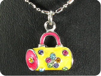 11x2mm Multicolour Topaz  Handbag Pendant