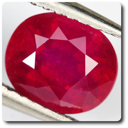 2.03ct STUNNING OVAL NATURAL BLOOD RED RUBY MADAGASCAR