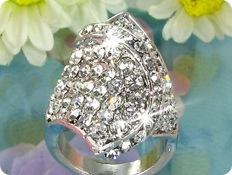 White Gold Round Brilliant Cut Created Diamond Ring